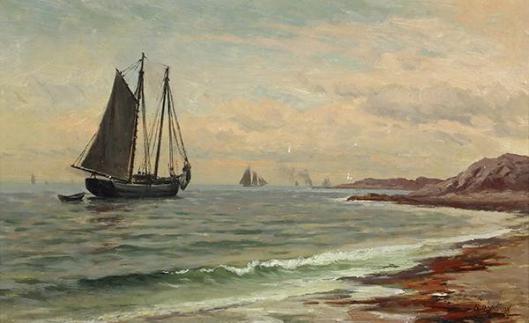 Ships Off The San Francisco Coast