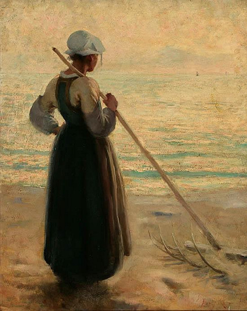 Young Maiden On A Beach