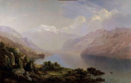 Château de Chillon, Lake Geneva And Les Dents du Midi