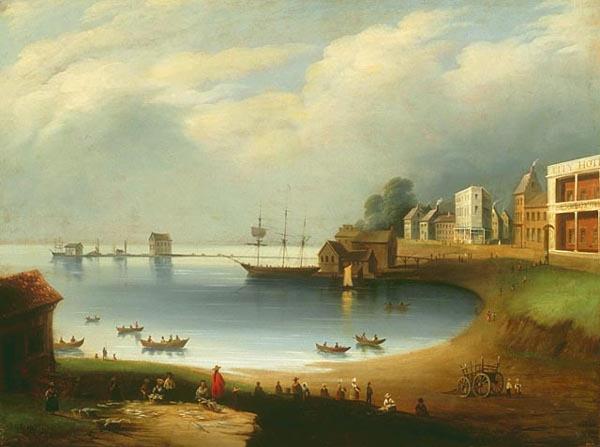 American gallery 19th century for Boston fish market wheeling
