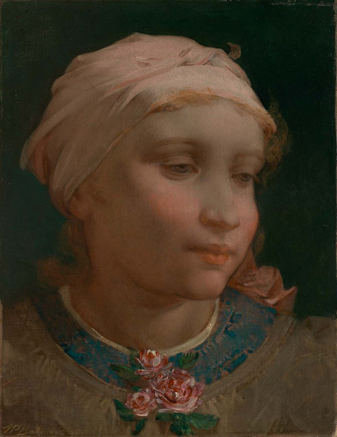 Girl With A Pink Bonnet