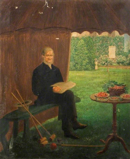 Mr. Joseph Cranstone Resting After a Game of Croquet