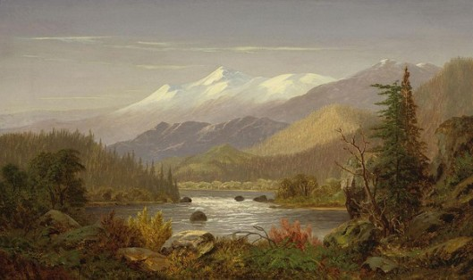 Mount Shasta And The Sacramento River