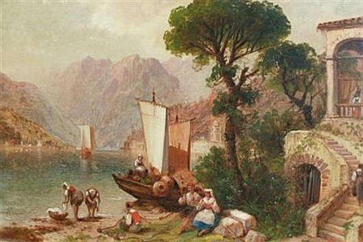 Peasants On An Italian Lake