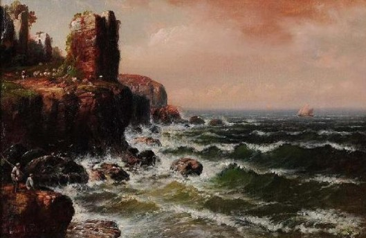 Rocky Coast With Figures