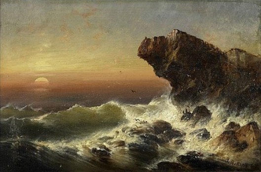 Rough Waters On Rocky Shore