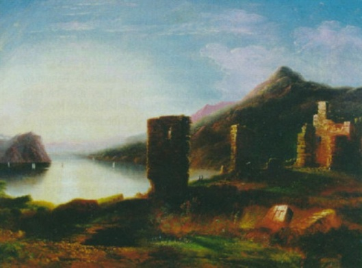Ruins Of Fort Ticonderoga With Lake George In The Background