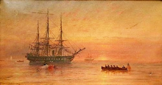 Ships At Sea At Sunrise