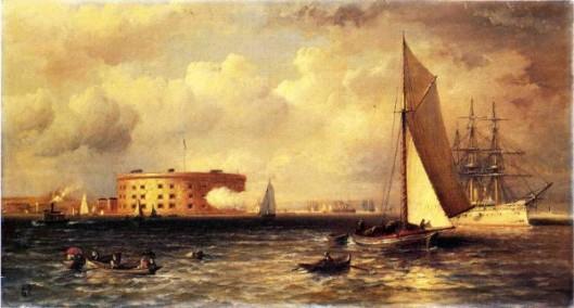 Ships Near The Battery