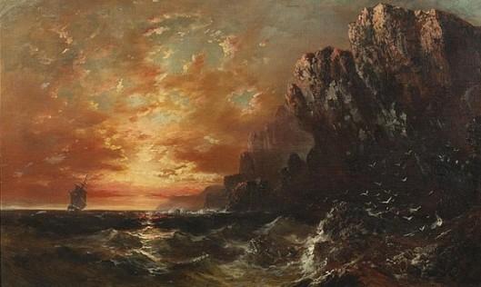 Sunset Along A Rocky Coast
