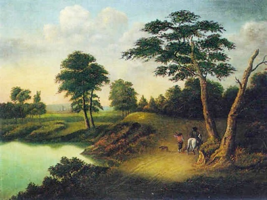 Travelers Beside A River