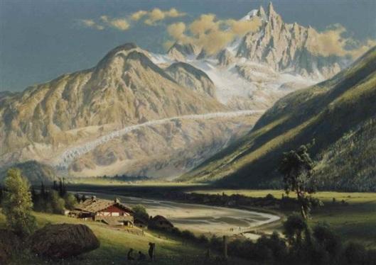 Alpine Landscape With River