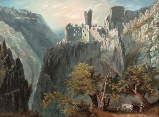 Castrum Pfronten (after W. H. Bartlett)
