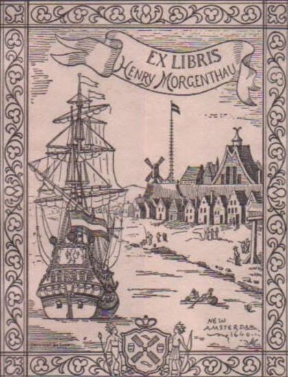 Ex Libris Henry Morgenthau - New Amsterdam