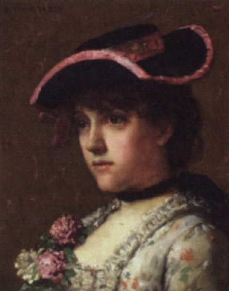 Head And Shoulder Study Of A Young Woman
