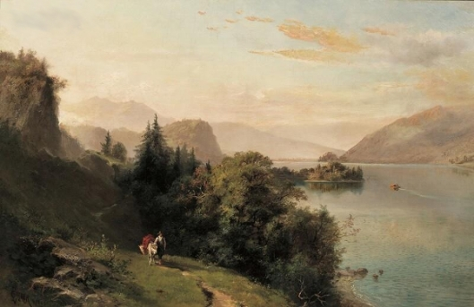 Landscape With Figure And Pack Mule On A Winding Path