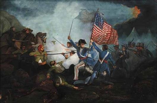Major Dix At The Battle Of Buena Vista (after Henry Warren)