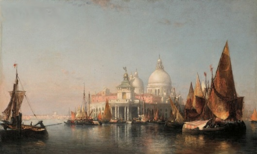 Morning In Venice - Dogana And The Church Of Santa Maria della Salute