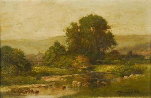New Hampshire Landscape With Stream