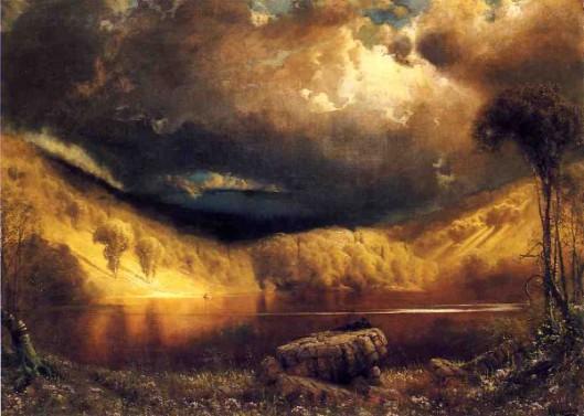 Stormy Skies Above Echo Lake, White Mountains