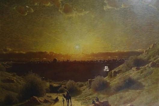 Sunset Over The Skyline Of Jerusalem