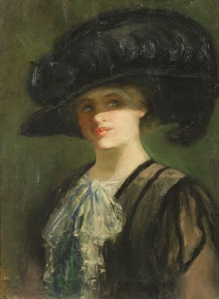 Woman In A Plumed Hat