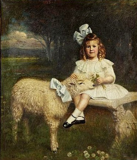 Young Girl With A Sheep